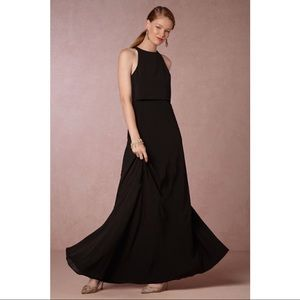 BHLDN Jill Stuart Crepe Iva Maxi Dress NWT